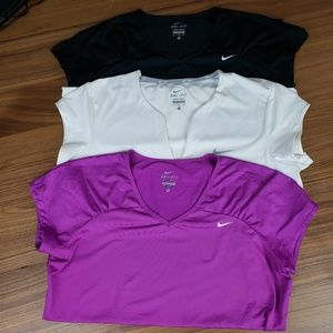Nike Dri-Fit  Workout Or Tennis Tops Lot  Size XL